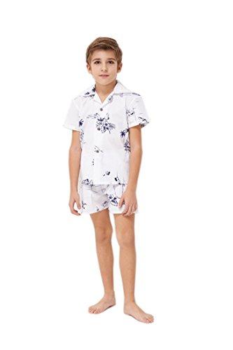 Hawaii-Hangover-Chico-Camisa-de-Aloha-Luau-Camisa-de-Navidad-Juego-de-cabaas-en-el-mapa-blanco-clsico-2-aos