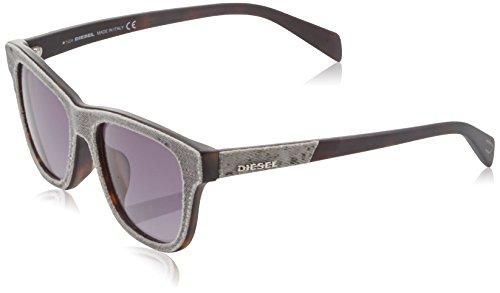 Diesel wayfarer eye, occhiali da sole donna, grigio, 54