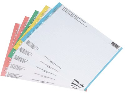 L'Oblique AZ Sachet de 10 planches d'étiquettes n°8 pour dossiers armoire Assortis