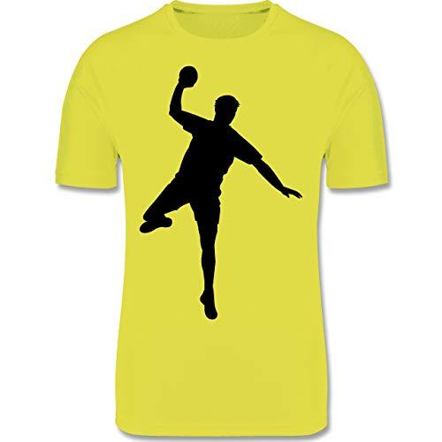 Sport Kind - Handball Wurf - 164 (14/15 Jahre) - Neon Gelb - F350K - atmungsaktives Laufshirt/Funktionsshirt für Mädchen und Jungen