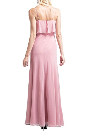 Gorgeous Bride Romantisch Träger Etui Chiffon Lang 2017 Abendkleider Lang Cocktailkleider Ballkleider Weiß