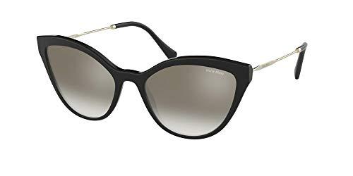 Miu Miu Sonnenbrillen SMU 03U Black/Grey Shaded Damenbrillen