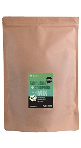 Wohltuer Spirulina + Chlorella Bio Algen Superfood Mix Tabletten in Rohkostqualität 250g