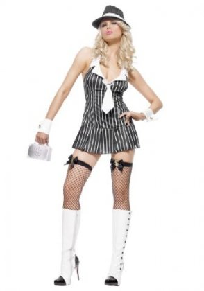 neuen Frauen 2 Stück weiß und schwarz Halfter Tippen Tänzerin Cabaret Künstler Fancy Kleid Kostüm Hen Night Halloween Party Größe 10–12