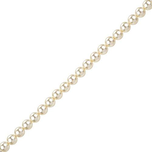 5 mm, con perline di cristallo Swarovski 5810 One Click Wonder-Confezione da 50, colore: panna