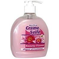 Savon liquide dans distributeur de savon Beauty Flower Distributeur Savon Crème 500ml dans bouteille
