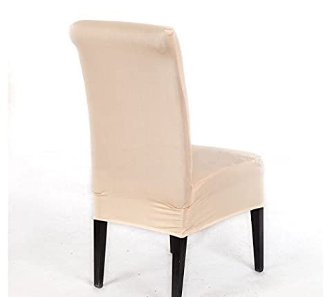 meyfdsyf Champagne Simple Slipcover Spandex Dining Stool Chair Cover Kitchen Living Room