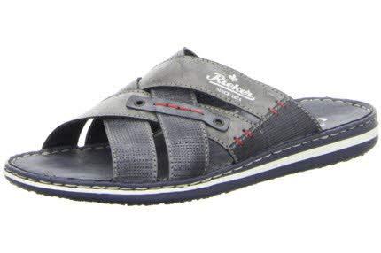 Rieker Herren Pantoletten Blau, Schuhgröße:EUR 43