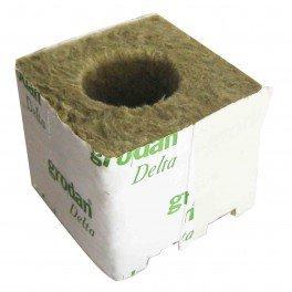 Cubes de laine de roche 100x100x65 par 10 Ø40/35mm - Grodan
