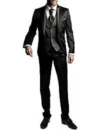 e120cce8a7a Suit Me Hommes 3 pi¨¨Ces Costume Slim Fit Costumes de Veste de Smoking