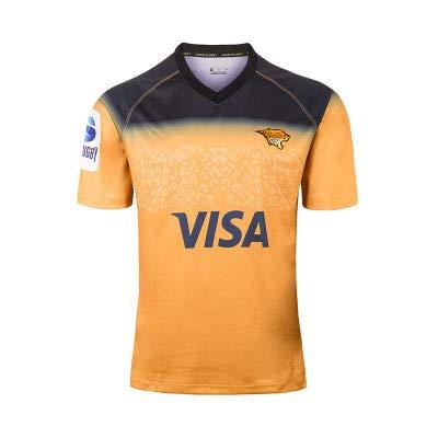 Xiaodun77 T-Shirt Ufficiale da Tifoso da Uomo Jaguar Rugby Fan Jersey Maglia da Rugby sostenitori Home T-Shirt Traspirante Super Light PRO Jersey Abbigliamento Sportivo,Giallo,S