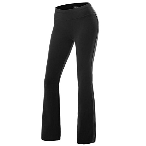 Fitibest Damen Yoga Hose Lange Stretch Hose Hohe Taille Sporthose Freizeithosen Casual Hosen Jogginghose für Yoga,Pilates,Laufen und Tanzen (Schwarze Damen-yoga-hose)