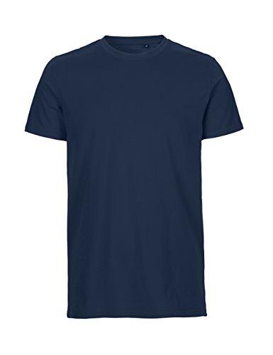 -Neutral- T-Shirt, 100% Bio-Baumwolle. Fairtrade, Oeko-Tex und Ecolabel Zertifiziert, Textilfarbe: Navyblau, Gr.: L (Baumwolle Feine Shirt)
