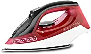 Black & Decker X1550-B5 Steam Iron with Anti Drip 1600W, Red, 2 Year Warr