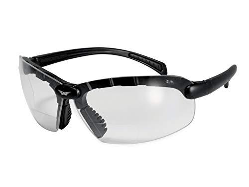 Global Vision C 200 Bifocal 1,5 dpt klar Motorradbrille mit Lesestärke