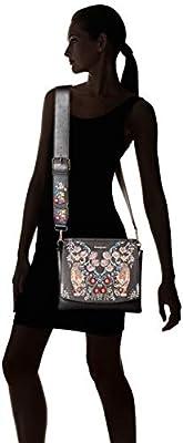 Desigual Bols_Eden Amberes, Sacs bandoulière Femme, Noir (Negro), 15x30x31 Centimeters (B x H x T)