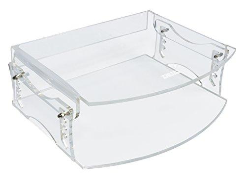 Desq 1538 Design Support de moniteur pour Luxueux aussehende efficace Lieu de travail, ordinateur portable/tablette/clavier, transparentes