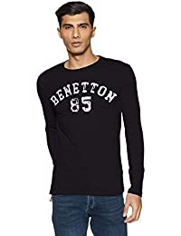 United Colors of Benetton Men's Solid Regular Fit T-Shirt