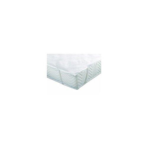 Alpes Blanc Protège Matelas Bouclette Imperméable, Anti-acariens, alèse Plateau - Dimensions - 140 x 190
