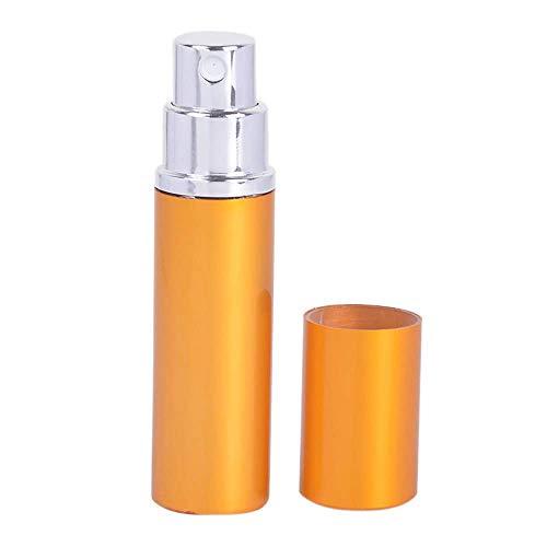 Vektenxi 5ml tragbare Mini nachfüllbare Parfüm Duft Aftershave Zerstäuber Leere Sprühflasche mit für Reisen, Männer und Frauen Gold langlebig und nützlich