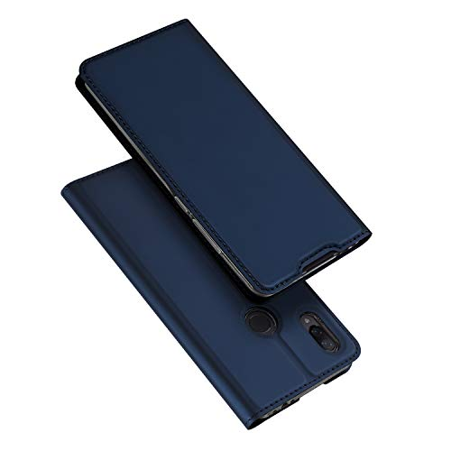 DUX DUCIS Funda para Xiaomi Redmi Note 7 / Redmi Note 7 Pro, PU Cuero Flip Folio Carcasa [Magnético] [Soporte Plegable] [Ranuras para Tarjetas] (Azul Marino)