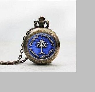 (Weiß Baum auf Gondor HDR Anhänger Taschenuhr, Pocket Watch Charm, ewelry, Glas weiß Baum auf Gondor HDR Armbanduhr, Weiß Baum auf Gondor HDR Foto)
