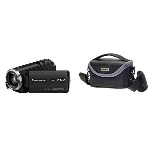 K Full HD Camcorder (1/5, 8 Zoll Sensor, Full HD, 50x optischer Zoom, 28 mm Weitwinkel, opt. 5-Achsen Bildstabilisator Hybrid OIS+) schwarz &  VW-PH80XE-K Robuste Softtasche ()