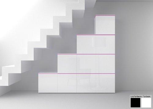 Dreams4Home Regal / Raumteiler Square Regalsystem weiß o schwarz hochglanz LED-RGB-Beleuchtung, Beleuchtung:ohne Beleuchtung;Farbe:Weiß