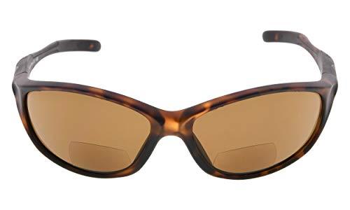 Eyekepper TR90 Rahmen Bifokale Sport Sonnenbrille Baseball Laufen Angeln Fahren Golf Softball Wandern Sonne Leser (Matte Schildkröte, 2.00)