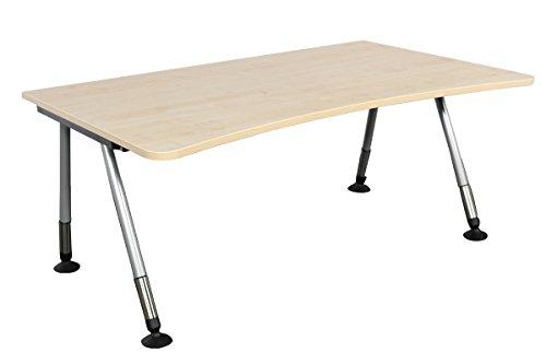 Schreibtisch Bürotisch Arbeitstisch All in one gebraucht von fm Büromöbel in ahorn, 160 x 100/90/100 cm