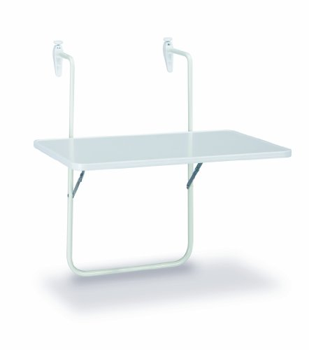 Boy Table suspendue pour balcon 60 x 40 cm Blanc