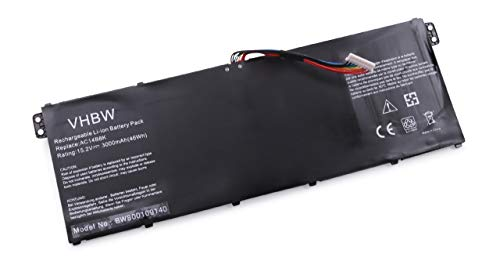 vhbw Li-Polymer Batterie 3000mAh (15.2V) pour Ordinateur Portable, Notebook Acer Aspire V3-111P, V3-112, V3-112P comme AC14B8K.
