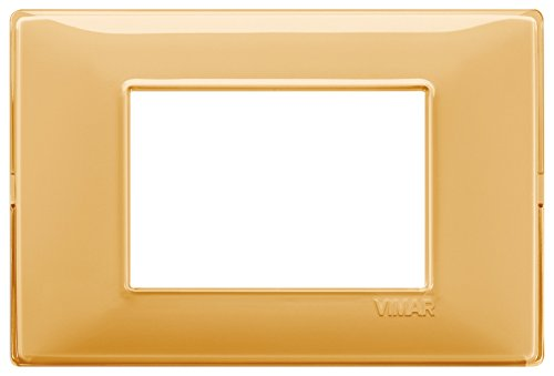Vimar 14653.43 Placca, 3 moduli, Ambra