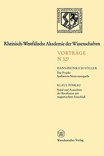 Rheinisch-Westfälische Akademie der Wissenschaften: Natur-, Ingenieur- und Wirtschaftswissenschaften Vorträge · N 327