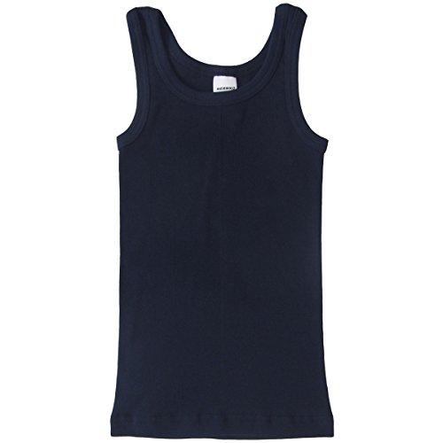 HERMKO 2800 Knaben Unterhemd aus 100% Bio-Baumwolle, Jungen Tank Top, Farbe:marine, Größe:140 (Jungen-marine)