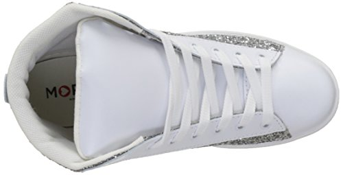 Morgan Ladies 171-1baso.a Alta Sneaker Blanc (blanc / Argente)