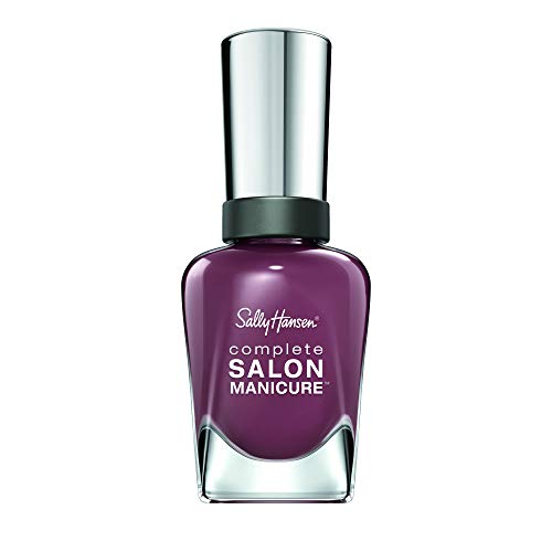 Sally Hansen Complete Salon Manicure Nagellack, Farbe 360, Plums The Word, helles lila, 1er Pack (1 x 15 ml) -