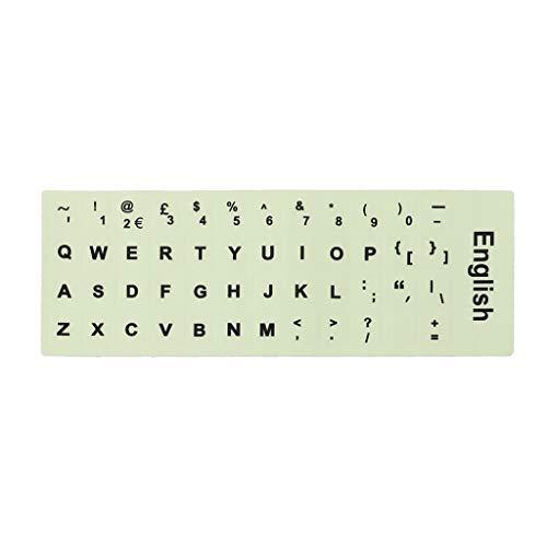 JUNESUN Fluoreszierende Tastaturaufkleber leuchtende Wasserdichte Tastatur Schutzfolie