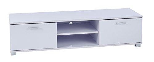 Mobile porta tv bianco lucido–per schermi led lcd 3d–larghezza: 1200mm–unità per schermi da 32a 55 pollici– unitàbianco lucido con porte
