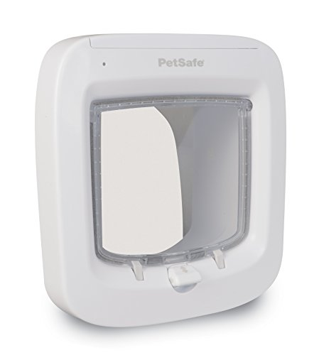 Price comparison product image PetSafe Microchip Cat Flap,  Battery Powered Pet Door,  4-Way Locking and Easy Installation,  White