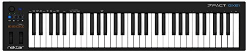 Nektar Impact GX61 USB MIDI Keyboard Controller, Black