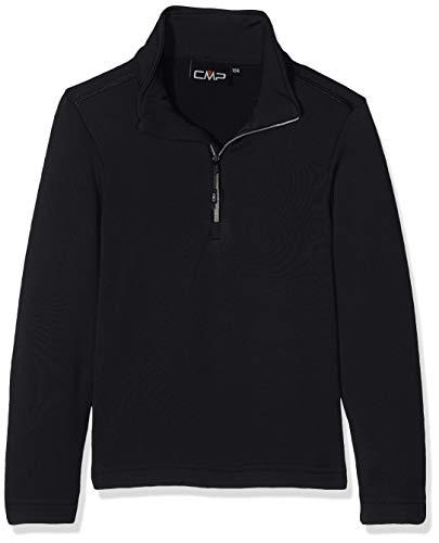 CMP Jungen Funktionsshirt, Nero/Bianco, 152 - Fleece-stretch-t-shirt
