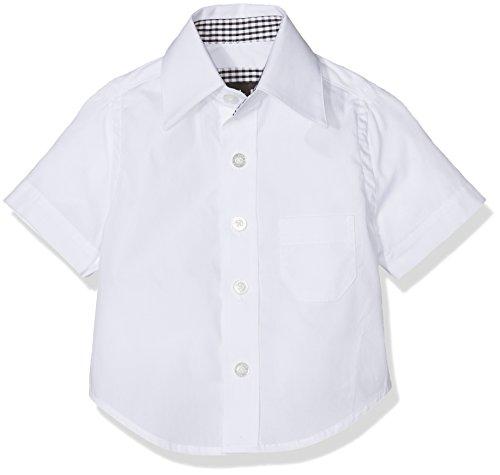 G.O.L. Baby-Jungen Kurzarm-Hemd mit Kentkragen, Regularfit, Weiß (Weiß 6), 74