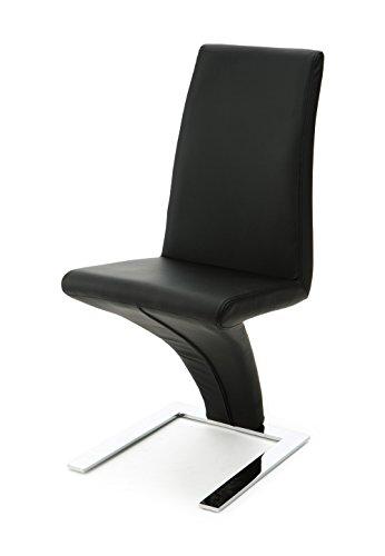 designement Anaîs Chaise Design Acier Noir 43 x 60 x 95 cm