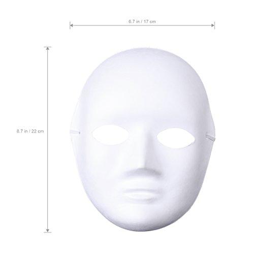 Amosfun 12 Stücke DIY Weiße Maske zum Bemalen Papier Theatermaske Neutralmaske Kindermasken(Women)