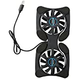 SLB Works Brand New Mini Black USB Octopus Laptop Notebook Foldable Fan Cooler Cooling Pad Portable