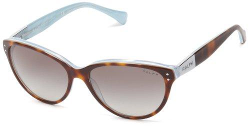 Ralph Damen RA 5168 Essential Ralph Plaque Cateye Sonnenbrille, 601/11, Tort/Turquoise, Gray Grad