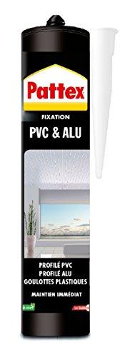 Pattex 1956425 Colle de Fixation pour Aluminium et PVC, Blanc