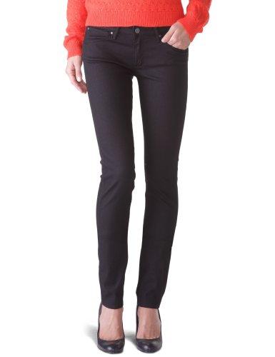 Wrangler Damen Jeans Slim, Schwarz (Ink Lux), 26W/32L (Herstellergröße: W26/L32) (Wrangler Elastische Jeans Taille)