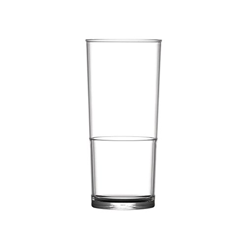 48x BBP Polycarbonat Hi Ball in2stax Gläser Half Pint Commercial restraunt Bar Pub Esstisch Club Pint Ball